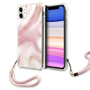 Guess iPhone 11 Case Cover Hülle Marmor Pink
