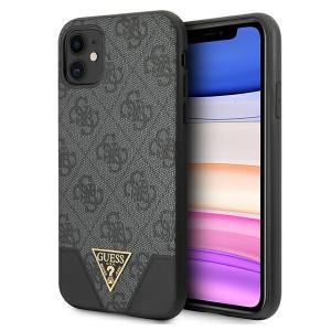 GUESS iPhone 11 Case Cover Hülle 4G Triangle Grau