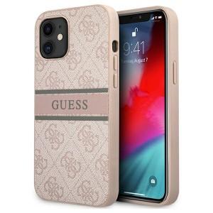Guess iPhone 12 mini Case Cover Hülle 4G Stripe Rose