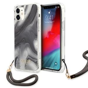 Guess iPhone 12 Mini Case Cover Hülle Marmor Grau