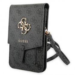 Guess universelle Smartphone Tasche Wallet bag 4G Big Logo Grau