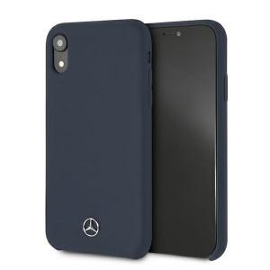 Mercedes iPhone Xr Case Cover Hülle Blau Silicone Line