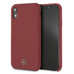 Mercedes iPhone Xr Case Cover Hülle Rot Silicone Line