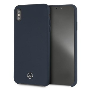 Mercedes iPhone XS Max Case Cover Hülle Blau Silicone Line