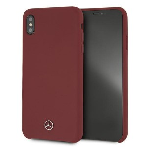 Mercedes iPhone XS Max Case Cover Hülle Rot Silicone Line