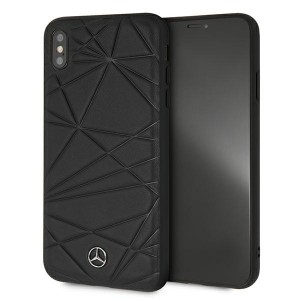 Mercedes iPhone XS Max Case Cover Hülle schwarz Pattern Line Twister