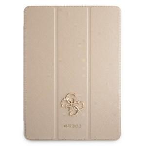 Guess iPad 11 2021 Tasche Hülle Book Case Cover Gold Saffiano