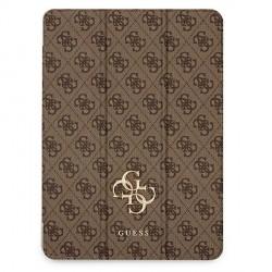 Guess iPad 12.9 2021 Tasche Hülle Book Case Cover 4G Braun