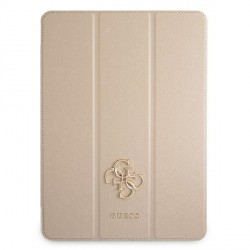 """Guess iPad 12.9"""" 2021 Hülle Book Case Cover Saffiano Gold"""