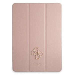 Guess iPad 12.9 2021 Tasche Hülle Book Case Cover Rose Saffiano