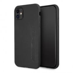 AMG iPhone 11 Hülle Case Cover Echtleder Hot Stamped Schwarz