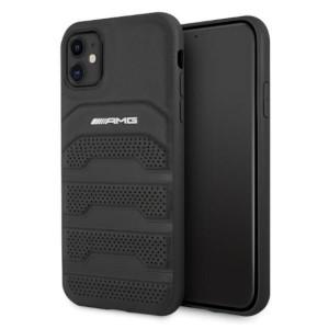 AMG iPhone 11 Hülle Case Cover Echtleder Debossed Schwarz