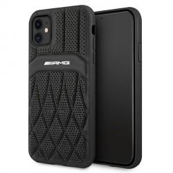 AMG iPhone 11 Hülle Case Cover Echtleder Curved Schwarz