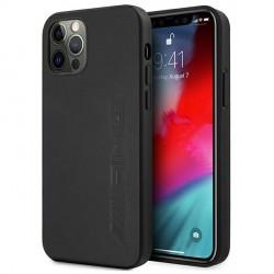 AMG iPhone 12 Pro Max Hülle Case Cover Echtleder Hot Stamped Schwarz