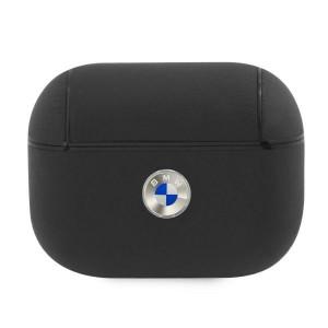BMW AirPods Pro Echtleder Hülle Cover / Case schwarz Silver Logo