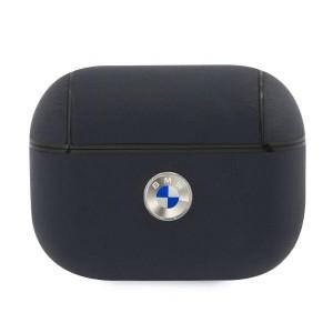BMW AirPods Pro Echtleder Hülle Cover / Case Blau Silver Logo