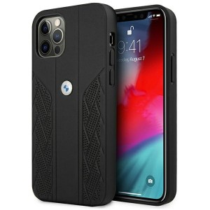 BMW iPhone 12 Pro Max Hülle Case Cover Curve Perforate Schwarz