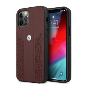 BMW iPhone 12 Pro Max Hülle Case Cover Curve Perforate Rot
