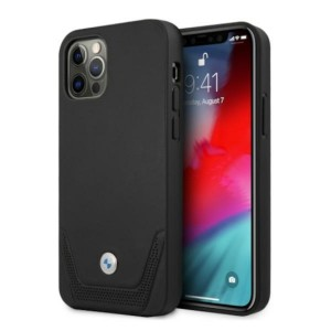 BMW iPhone 12 Pro Max Hülle Case Cover Perforate Schwarz