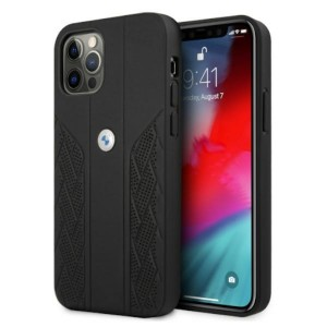BMW iPhone 12 / 12 Pro Hülle Case Cover Perforate Schwarz