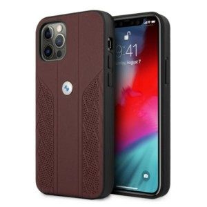 BMW iPhone 12 / 12 Pro Hülle Case Cover Perforate Rot