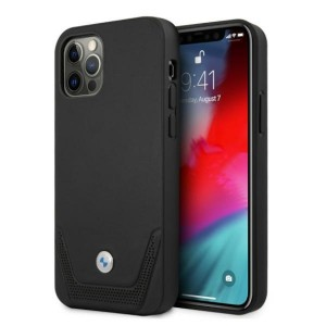 BMW iPhone 12 / 12 Pro Hülle Case Cover Perforate Schwarz black