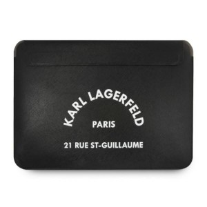 Karl Lagerfeld Notebook / Tablet Saffiano Hülle / Sleeve 13,3 Zoll Schwarz