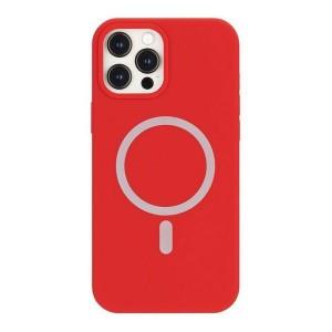 Mercury iPhone 12 / 12 Pro MagSafe Hülle Case Cover Silikon Rot
