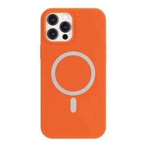 Mercury iPhone 12 / 12 Pro MagSafe Hülle Case Cover Silikon Orange