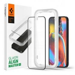 Spigen iPhone 13 Mini Glas schwarz 2 Pack FC Fit + Montagerahmen