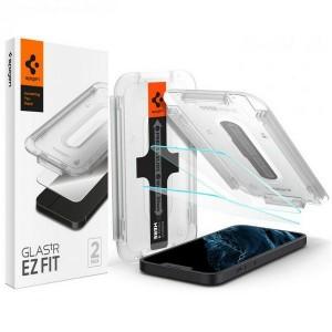 Spigen iPhone 13 Mini Glas 2 Pack EZ Fit + Montagerahmen