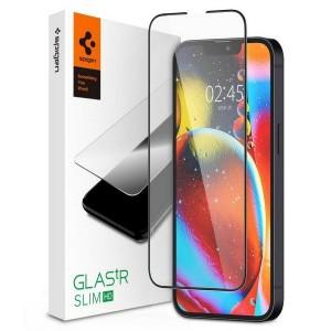Spigen iPhone 13 / 13 Pro gehärtetes Glas schwarzer Rahmen