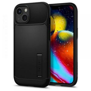Spigen iPhone 13 Hülle Case Cover Slim Armor schwarz Kickstand