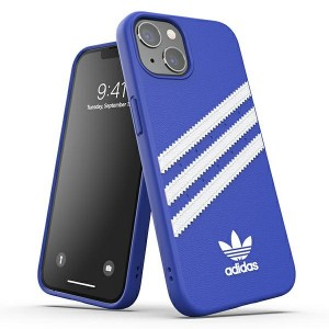 Adidas iPhone 13 Pro OR Moulded PU Hülle Case Cover Blau