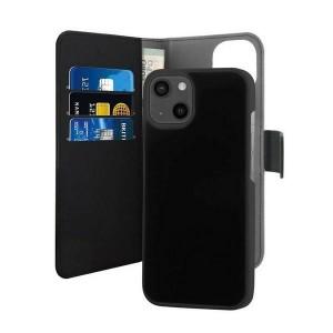 Puro iPhone 13 Wallet Book Tasche + Hülle 2in1 Schwarz
