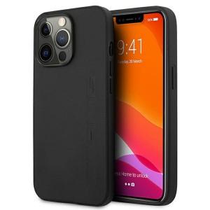 AMG iPhone 13 Pro Hülle Case Cover Echtleder Stamped Schwarz