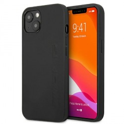 AMG iPhone 13 Hülle Case Cover Echtleder Stamped Schwarz