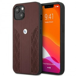 BMW iPhone 13 Hülle Case Cover Curve Perforate Rot BMHCP13MRSPPR