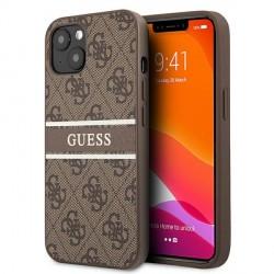 Guess iPhone 13 Case Cover Hülle 4G Stripe Braun
