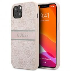 Guess iPhone 13 mini Case Cover Hülle 4G Stripe Rosa