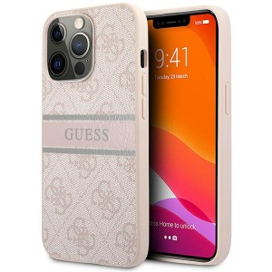 Guess iPhone 13 Pro Max Case Cover Hülle 4G Stripe Rosa