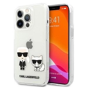 Karl Lagerfeld iPhone 13 Pro Max Hülle Case Cover Karl & Choupette Transparent