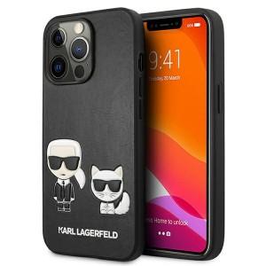 Karl Lagerfeld iPhone 13 Pro Case Cover Hülle Karl / Choupette Schwarz