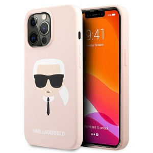 Karl Lagerfeld iPhone 13 Pro Hülle Case Cover Silikon Karl`s Head Rose