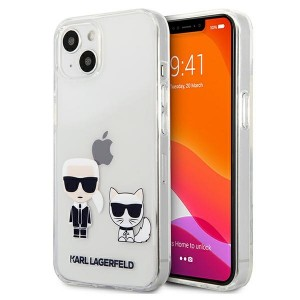 Karl Lagerfeld iPhone 13 Hülle Case Cover Karl & Choupette Transparent
