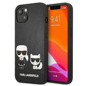 Karl Lagerfeld iPhone 13 Case Cover Hülle Karl / Choupette Schwarz