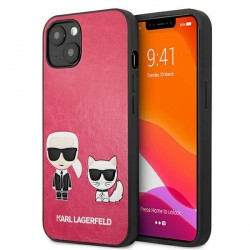 Karl Lagerfeld iPhone 13 Case Cover Hülle Karl / Choupette Fuchsia