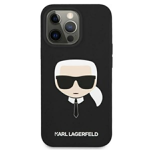 Karl Lagerfeld iPhone 13 Hülle Case Cover Silikon Karl`s Head schwarz