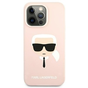 Karl Lagerfeld iPhone 13 Hülle Case Cover Silicone Karl`s Head Rose