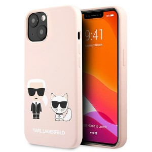 Karl Lagerfeld iPhone 13 Case Cover Hülle Silikon Karl / Choupette Rosa